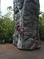 Rock climbing Grace.