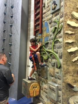 Ryan climbing.