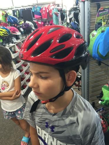 Adult size helmet for his big brain.