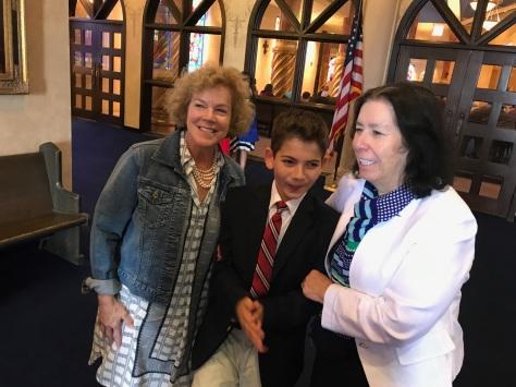 Aunt Suzi, Ryan, and Grandma Chris.