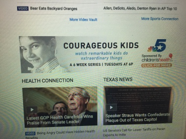 The banner for the series on Courageous Kids.
