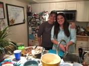Trevor and Jen making our dinner!