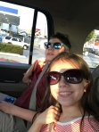 Cool kids on the way to dinner.