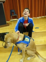 Ryan and Freckles at the Chili Cook Off at Grace's school.