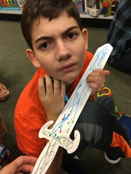 Ryan made this sword at the Demigod Goals event at Barnes and Noble.