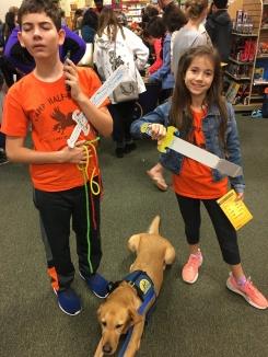 At the Rick Riordan Demigod Goals event at Barnes and Noble.