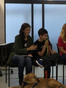 Another picture as panelists at Canine Companions