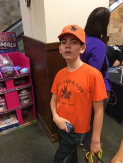 Ryan won this Camp Halfblood hat at the event!