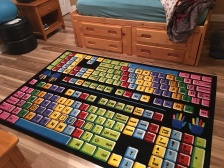 The rug that Ryan picked out for his room after the floors were done!