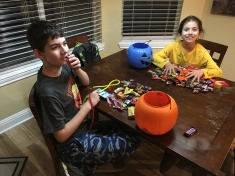 The candy haul.